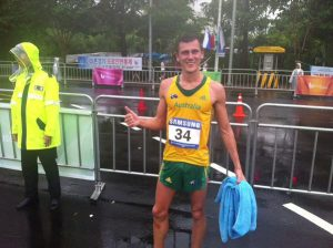 Dane Bird-Smith takes out Gold at World Uni Games PHOTO BY @AUSUniroos on Twitter