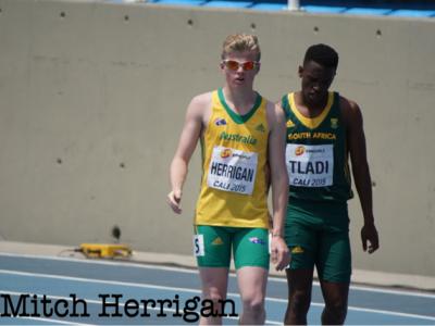 Brandon Herrigan in the 200m