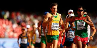 Dane Bird-Smith places 8th in the 20km walk at WC