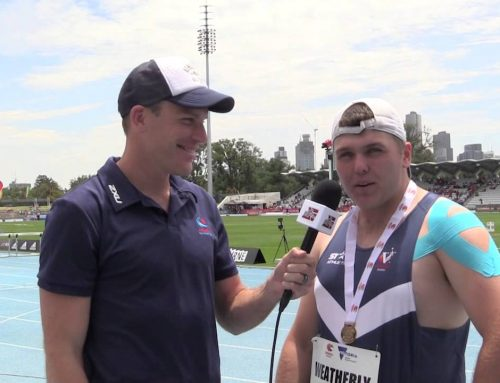 Ned Weatherly Interview at the Australian All Schools Track & Field Championships