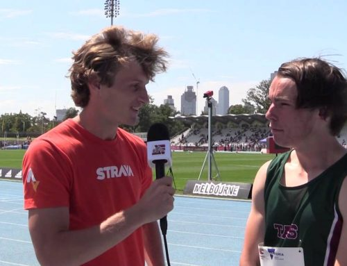 Jack Hale Interview at the Australian All Schools Track & Field Championships