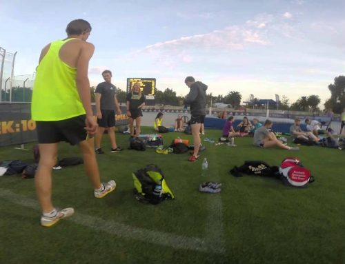 Preparing for the Relays at Zátopek:10