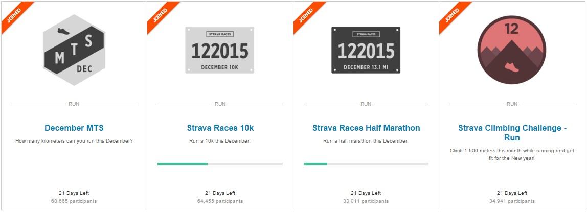 Strava December Challenges Strava Strava Challenges - December strava december