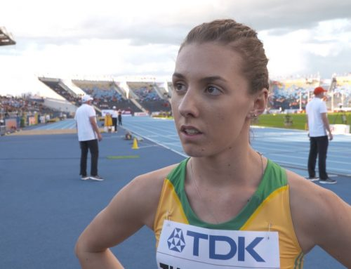 Interview with Jessica Thornton after the 400m Heat