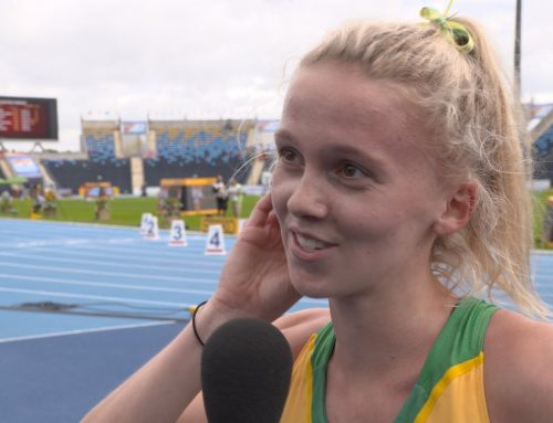 Interview with Sarah Billings after the 800m Heat