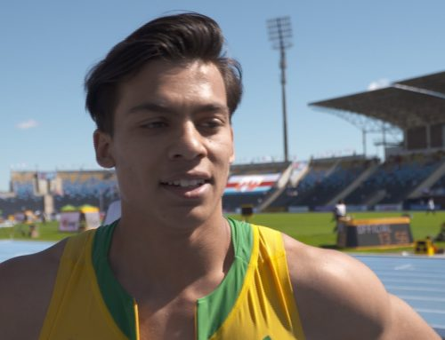 Interview with Nicholas Andrews after 110m Hurdles Heat