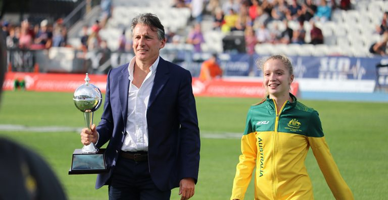 Sebastian Coe and Isis Holt Arrive with the Nitro Athletics World Cup