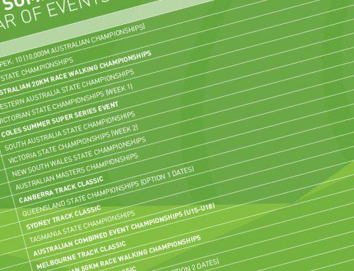 2021 Australian Summer of Athletics announced